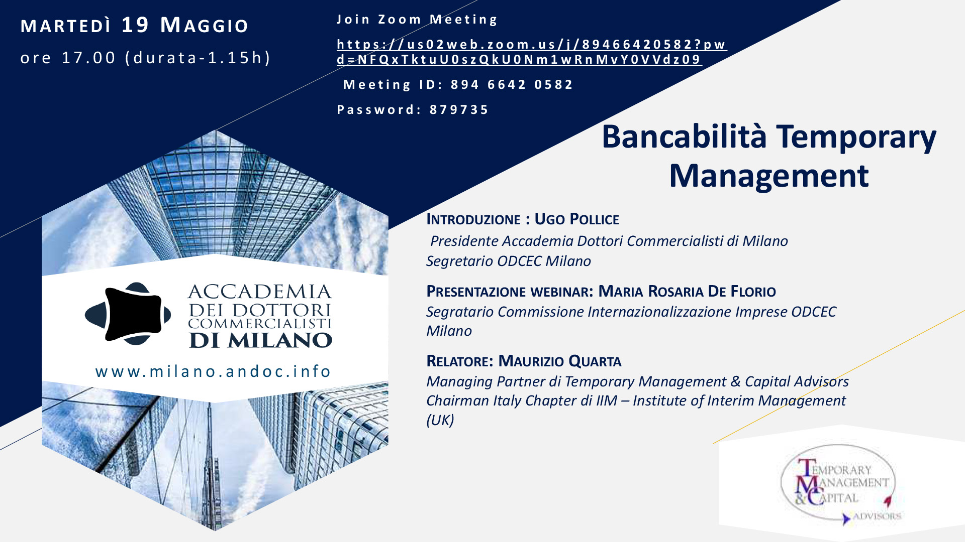 Webinar Bancabilità Temporary management